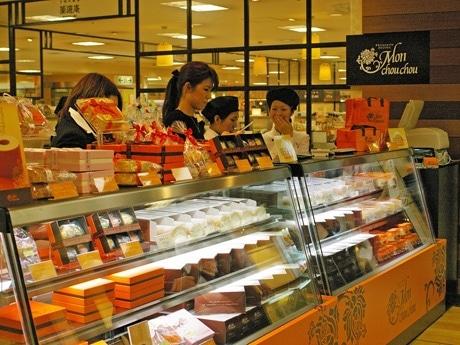 オープン前のモンシュシュ広島三越店
