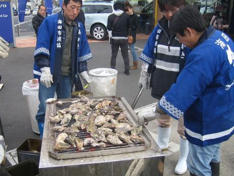 昨年開催した広島カキチャリティーフェスティバルの様子
