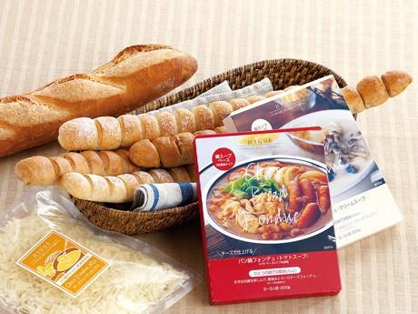 11月から期間限定で販売する「パン鍋フォンデュ」「パン鍋フォンデュスティック」
