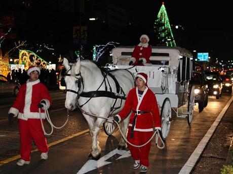 普段は県内外のイベント会場や結婚式に登場する白馬の「ララちゃん」