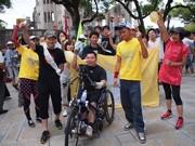障害者アスリートやアーティストが「ピースラン」-広島と長崎をつなぐ
