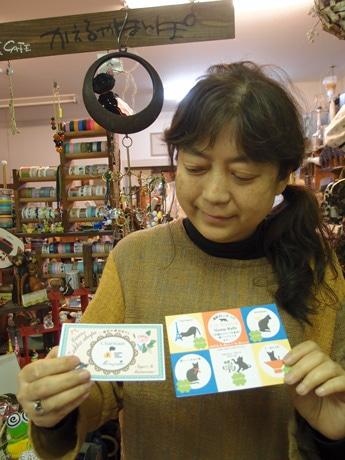 ステンドグラス作家としても活動する発起人の米村欣子さん