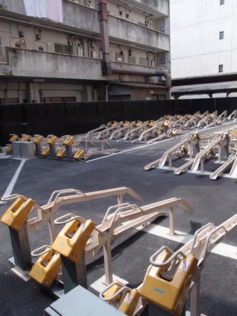 駐輪台数174台をそなえる「三井のリパーク 広島袋町駐輪場」