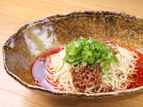 「國松」で提供する汁なし担々麺
