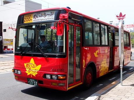 バスは循環ルートを一周約50分で回る
