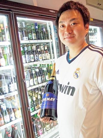 イベントを主催するキムラ専務の木村拓平さん。同社では外国ビールの取扱いに力を入れる