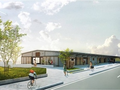 全国初となるサイクリスト向け複合施設「ONOMICHI U2」イメージ図