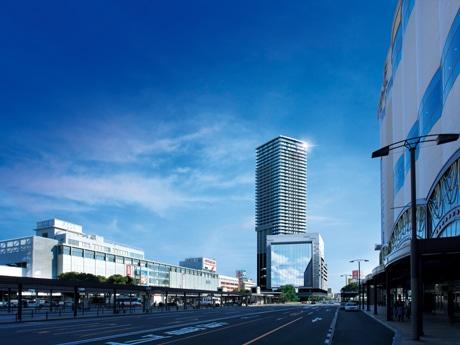 広島駅前南口Cブロック第一種市街地再開発事業 完成イメージ