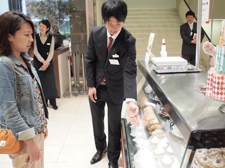 催事場で接客に当たった北川選手