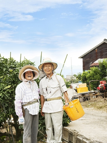イメージビジュアルには大崎上島で暮らす夫婦が選ばれた