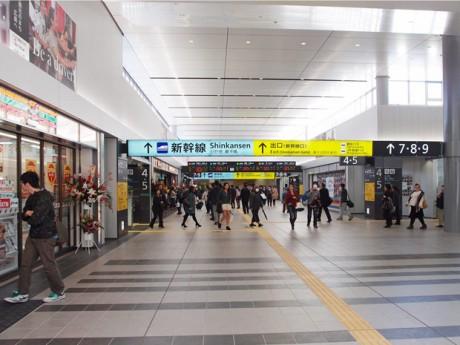 JR広島駅構内で供用が始まった新跨線橋(こせんきょう)