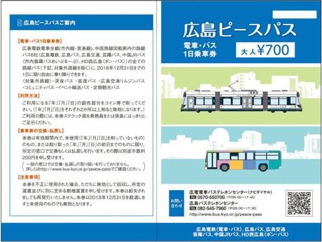 広島ピースパスの表面デザイン