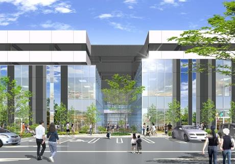 広島西部SCプロジェクト(仮称)の正面玄関イメージパース