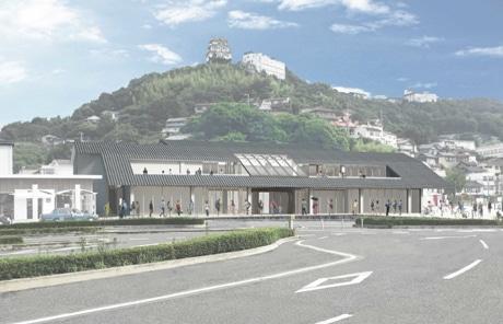 2018年夏に開業予定の「JR尾道駅」完成イメージ