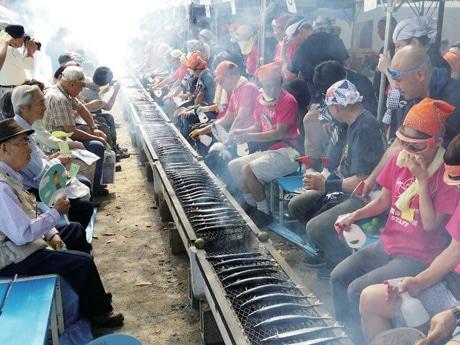 広島での開催にあたって参考にしたという「目黒のさんま祭り」