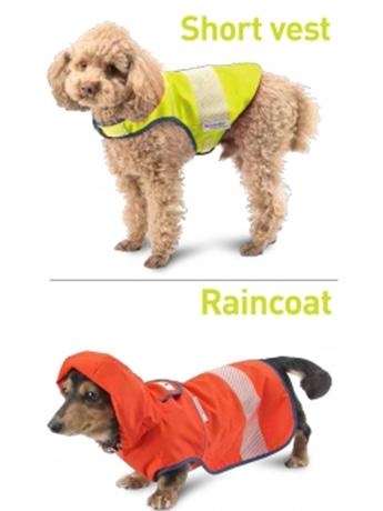小型犬を対象にした「犬の安全服」