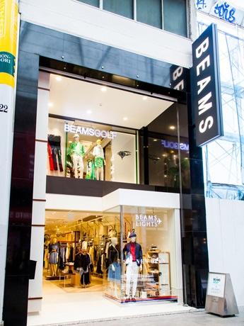広島本通り商店街にオープンした「ビームス ライツ」「ビームス ゴルフ」外観