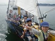 広島港で日帰り体験航海 帆船に乗船、尾道港目指す1泊2日コースも