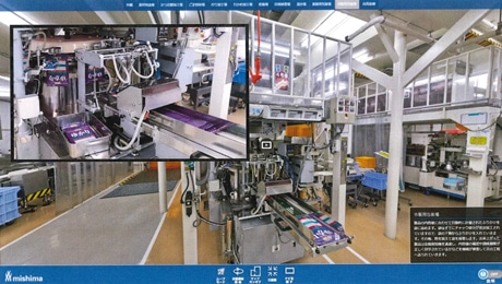 バーチャル工場見学のイメージ画面