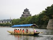 広島城で「遊覧船」の運航開始 1日18便、広島城おもてなし隊がガイド