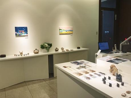 現在は呉市出身のイラストレーター松尾たいこさんの展覧会「ビバ!広島」を開催している