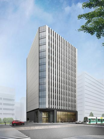 環境配慮型のオフィスビル「新広島ビルディング」完成イメージパース