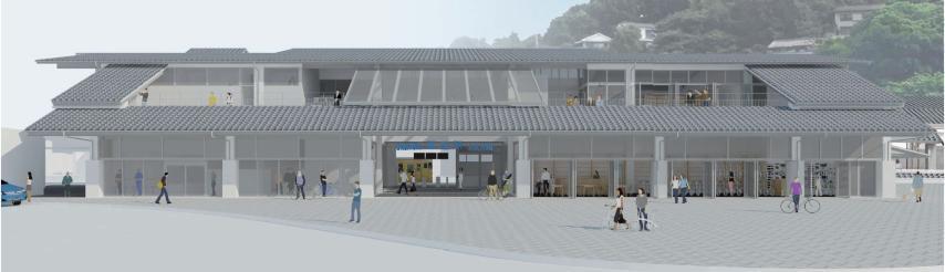 2018年度末に開業予定の「JR尾道駅」完成イメージ