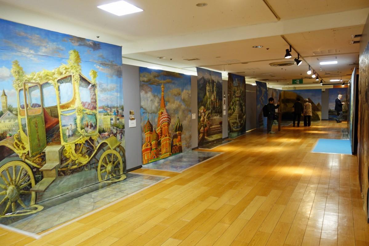 「動物たちと世界遺産の旅」をテーマにしたトリックアート展