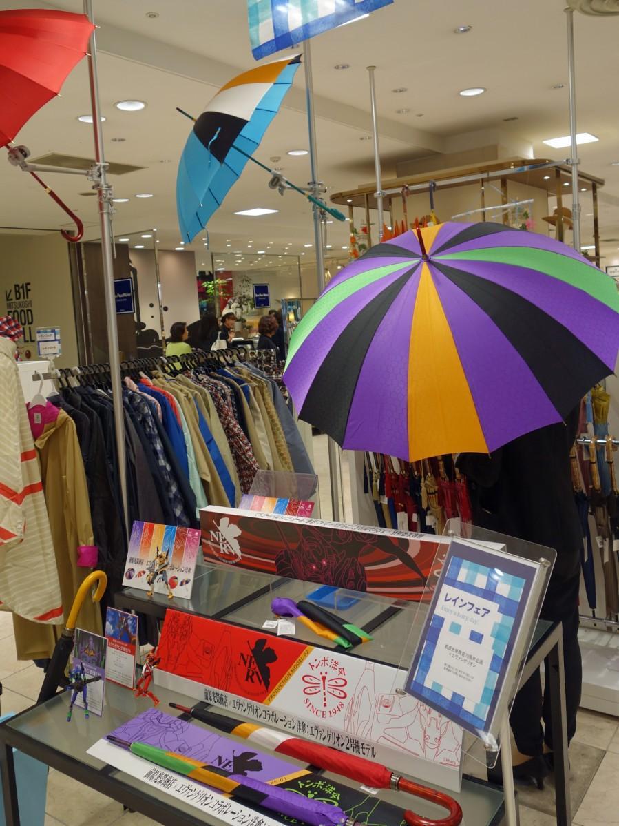 広島三越で今月19日から始まった「レインフェア」内で展示販売する
