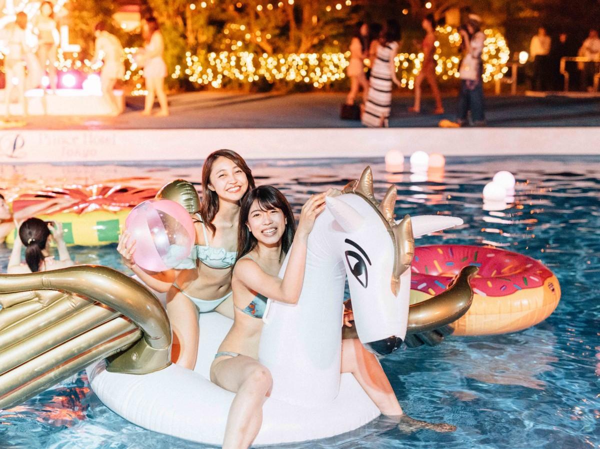 グランドプリンスホテル広島に今夏、CanCamプロデュースの「ナイトプール」が登場する