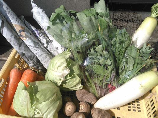 チャリティー即売会では平成30年7月豪雨で被災した三原の有機野菜を販売する