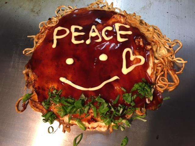 広島県内を中心としたお好み焼き店58店舗が参加する「ピースおこ」企画
