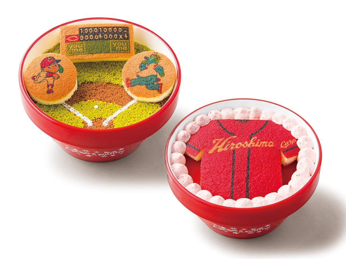 タカキベーカリーが製造し、イズミが販売するカープのクリスマスケーキ