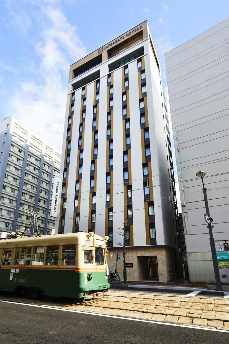 広島電鉄白島線沿いに開業した「ホテルインターゲート広島」外観パース