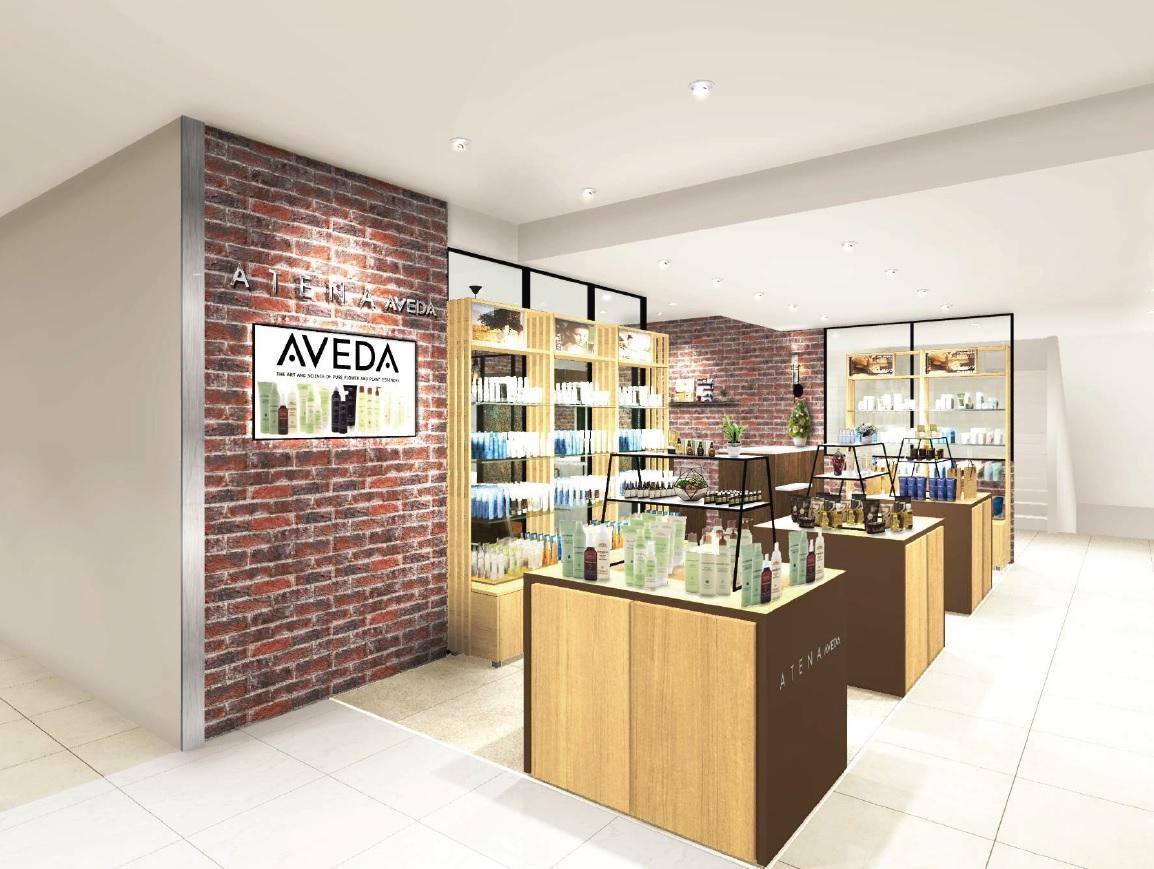 アヴェダの製品やサービスを提供するコンセプトサロン「ATENA AVEDA広島三越店」内観イメージ