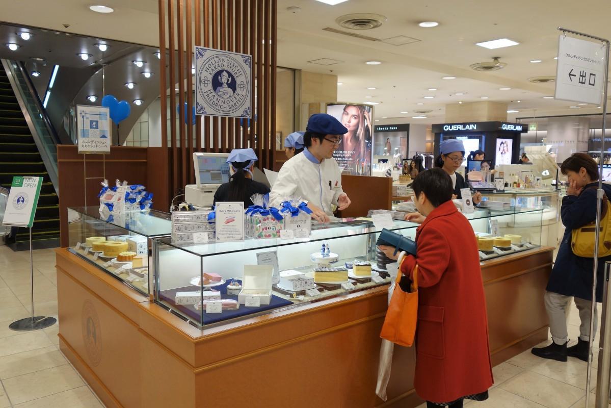 広島三越にオープンした「ホレンディッシェ・カカオシュトゥーベ」売り場