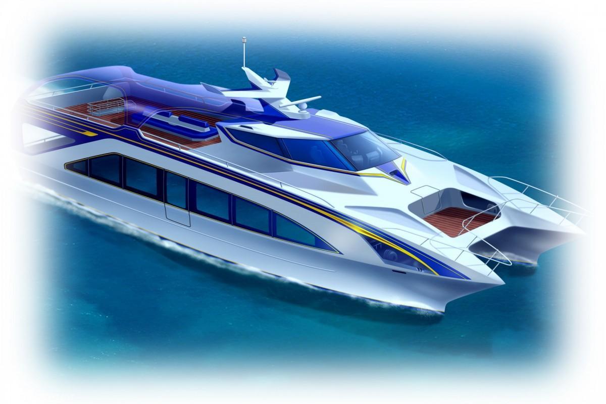 2020年夏に就航予定の「観光型高速クルーザー」イメージパース