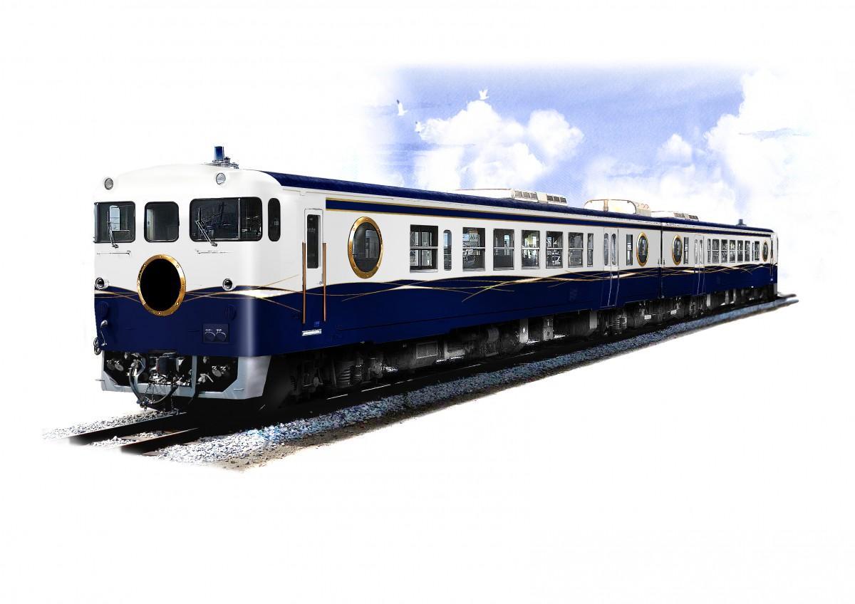 2020年秋に広島で運行開始予定の新たな観光列車イメージパース