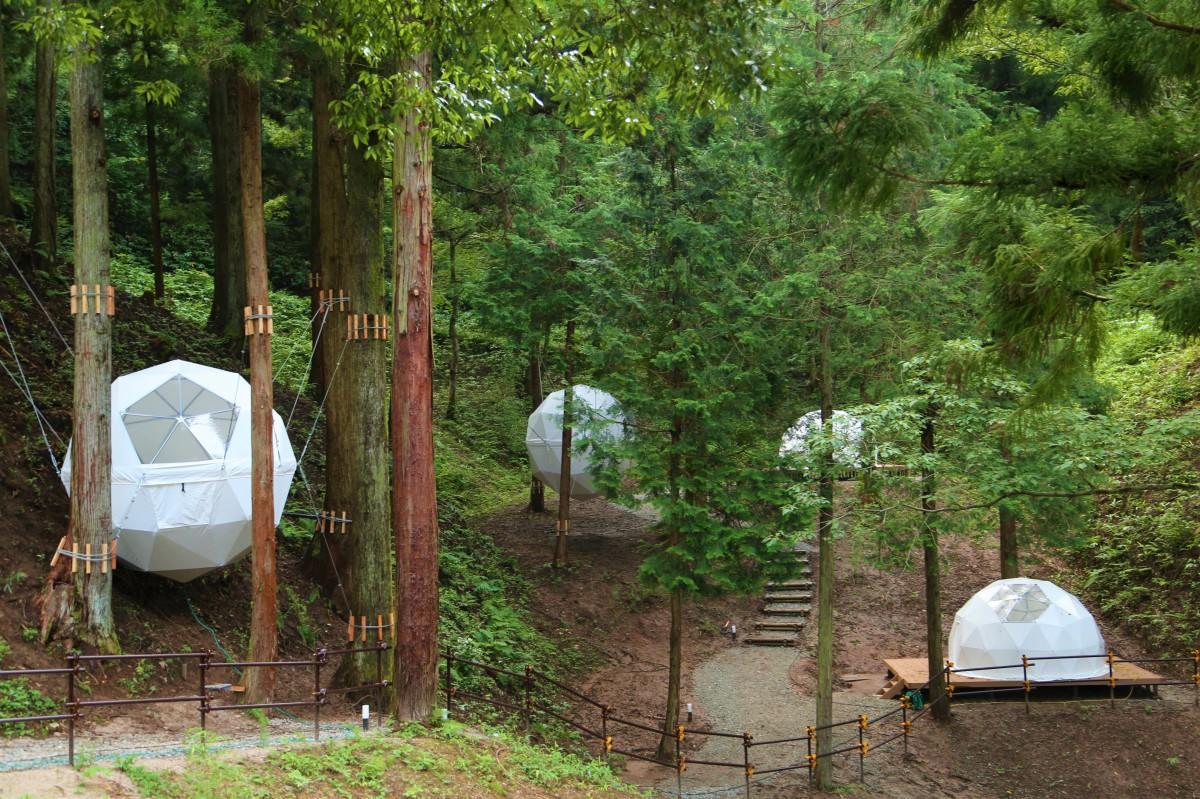 温泉リゾート施設「風の国」に新設したグランピングサイト