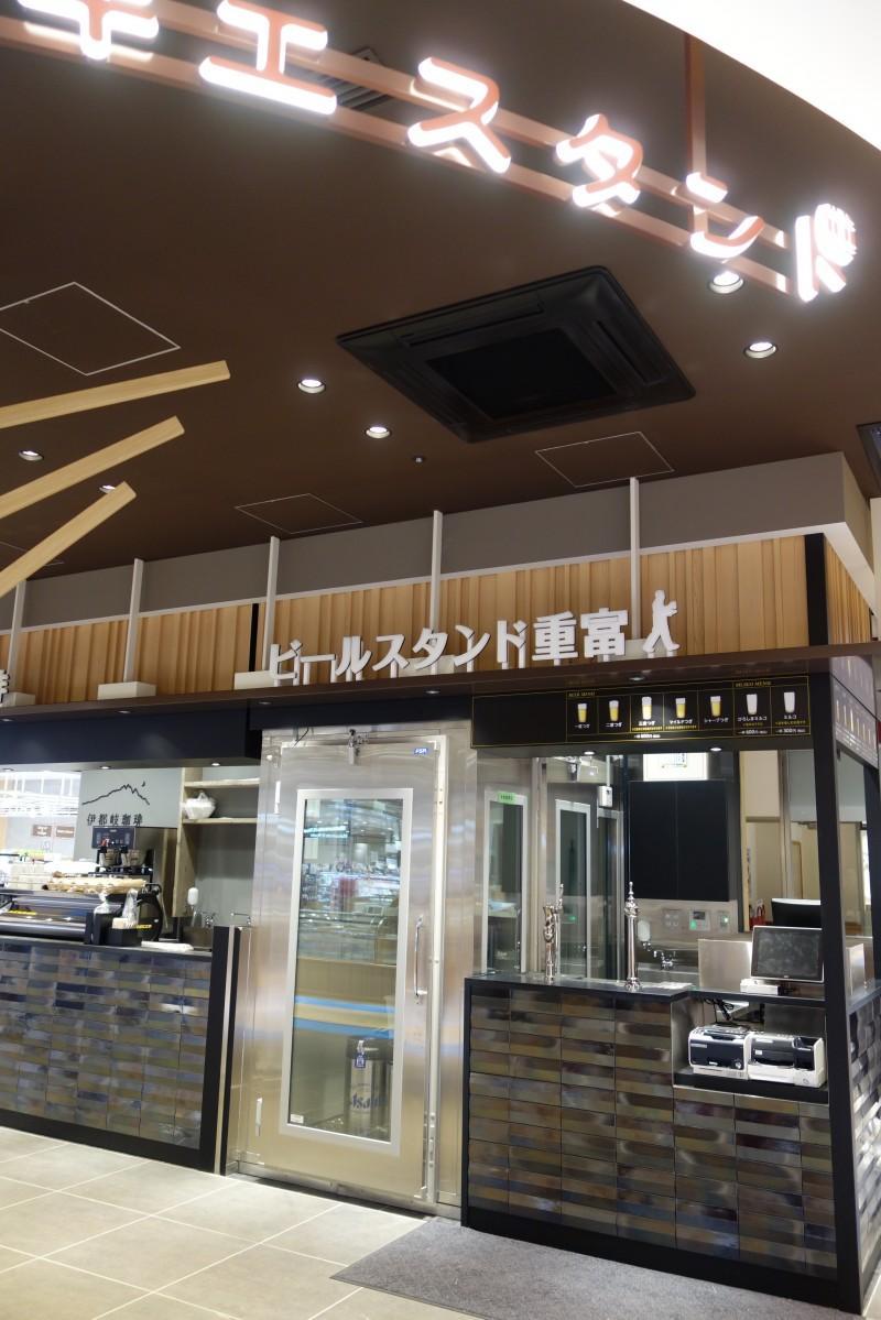 広島駅の新幹線名店街跡に10月2日開業する「エキエキッチン」内に出店する「ビールスタンド重富」外観