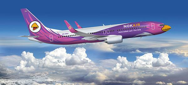 広島~バンコク・ドンムアン線の定期運航を開始した「ノックエア」