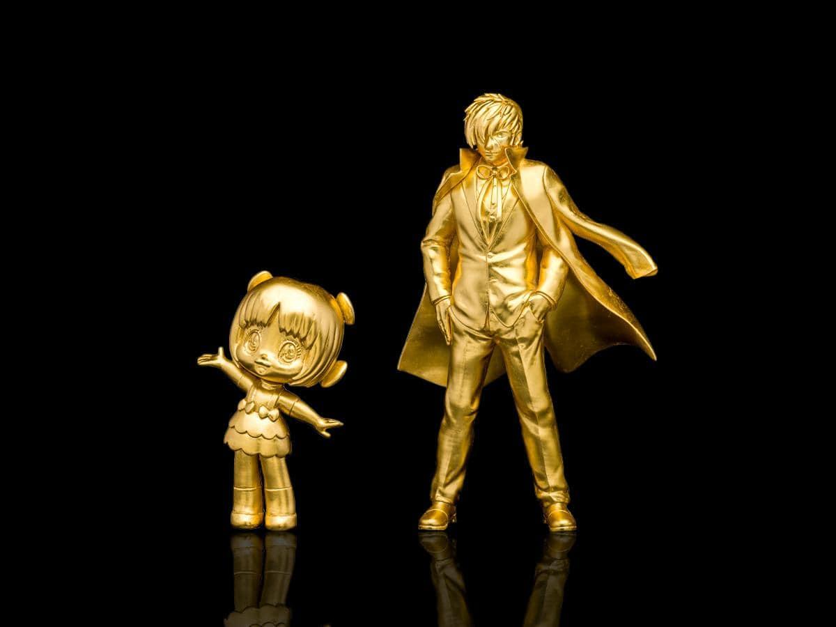 広島初登場となる「ピノコ」「ブラック・ジャック」の黄金像(c)手塚プロダクション