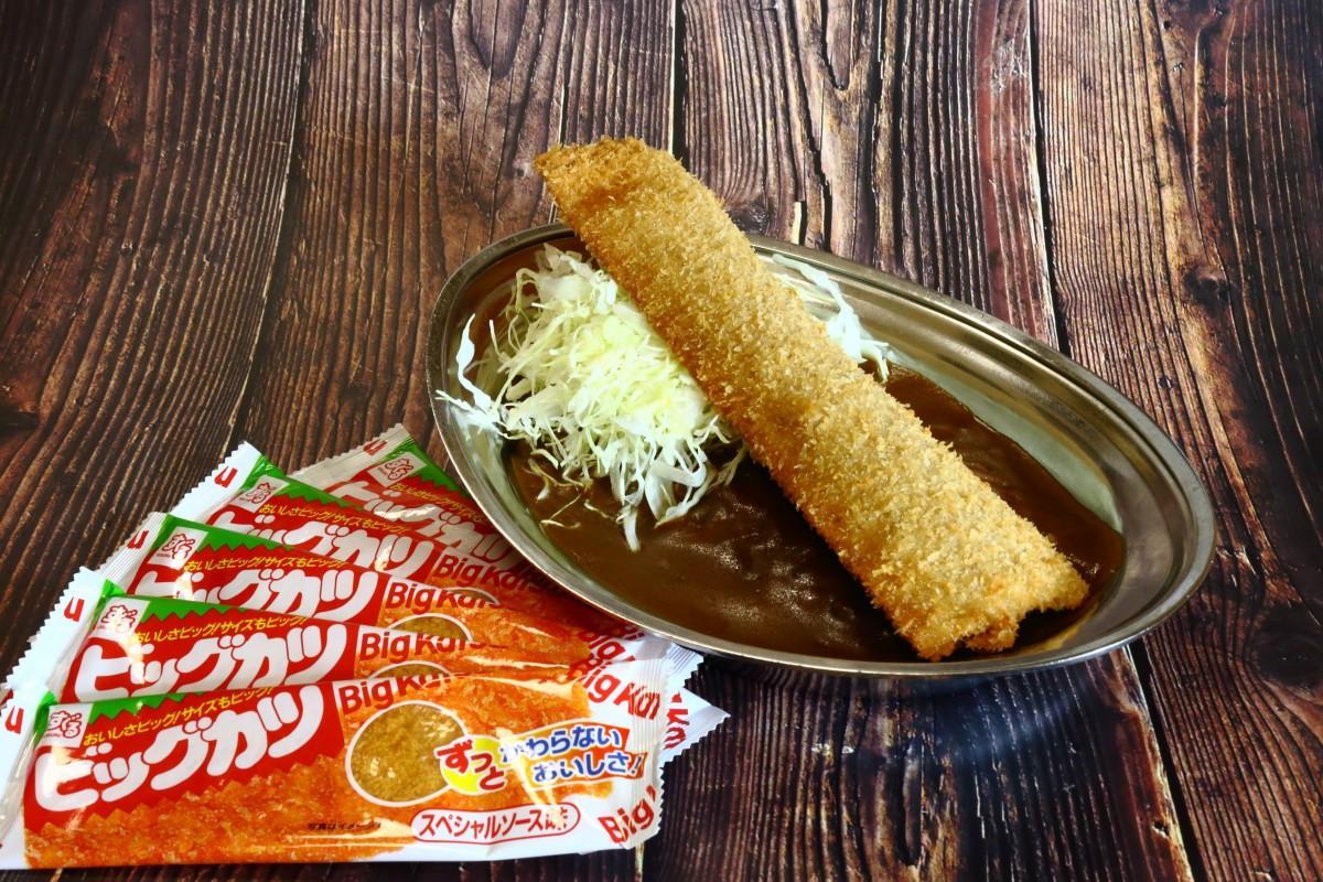ロングセラー駄菓子「ビッグカツ」と金沢カレーがコラボした「ビッグカツカレー」