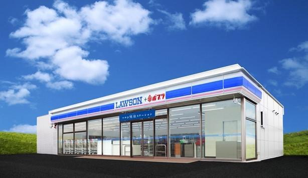 山陰エリアで展開する機能強化型店舗 「ローソン・ポプラ」のイメージパース