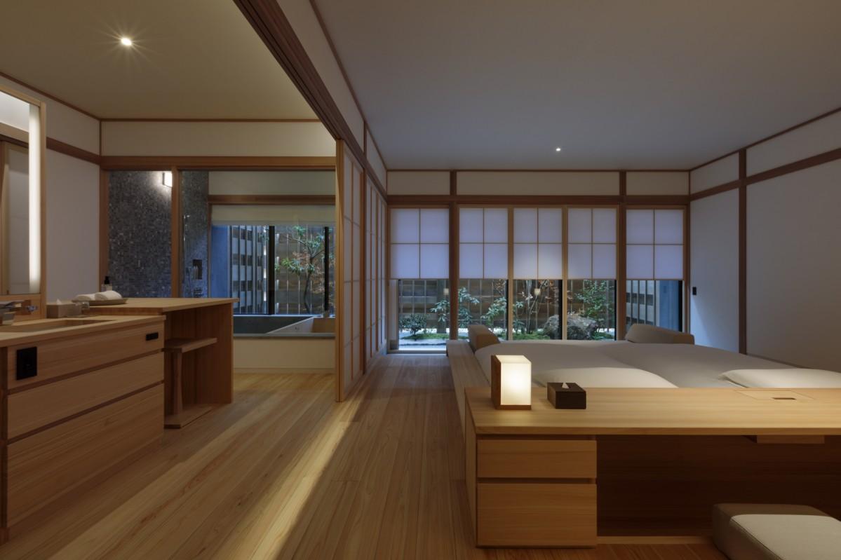 尾道・生口島の瀬戸田町に開業する宿泊施設「アズミセトダ」のベッドルーム