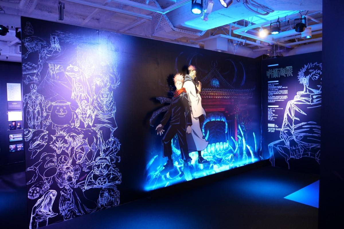 東京・池袋で開催した「MAPPA SHOWCASE」の様子。写真は「呪術廻戦」の展示コーナー