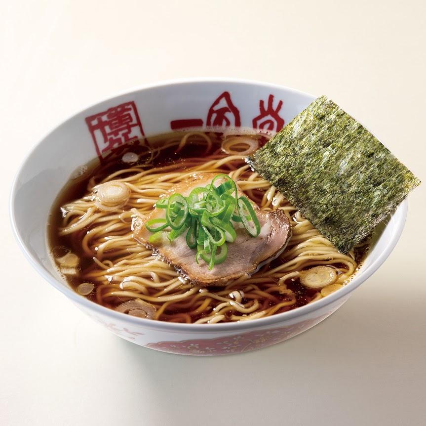 一風堂ekie広島店で朝提供する「あさだ!ラーメン」。しょうゆベースで煮干しのだしを利かせた