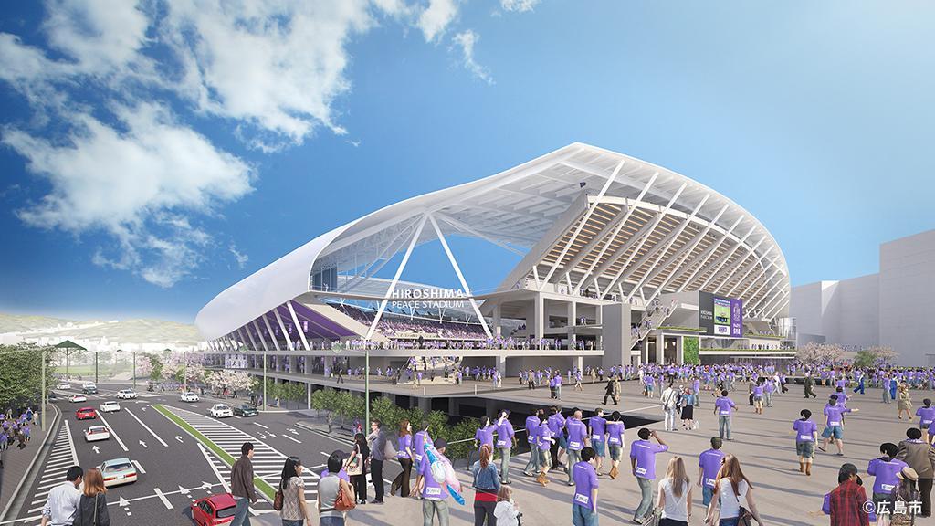 優先交渉権者が公開したサッカースタジアムのイメージ画像