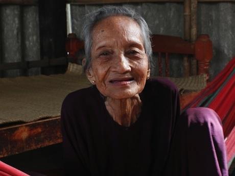122歳のグエン・ティ・チュー(Nguyen Thi Tru) さん©Vnexpress