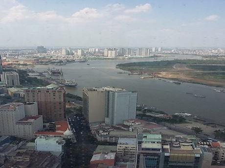 サイゴン川の眺め